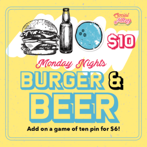 Social Alley Monday Night Burger & Beer Deal