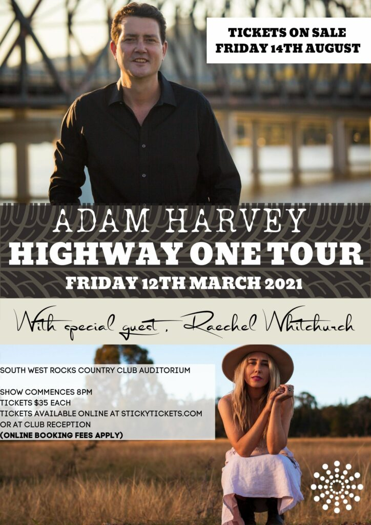 Adam Harvey - Highway One Tour - 12th March 2021